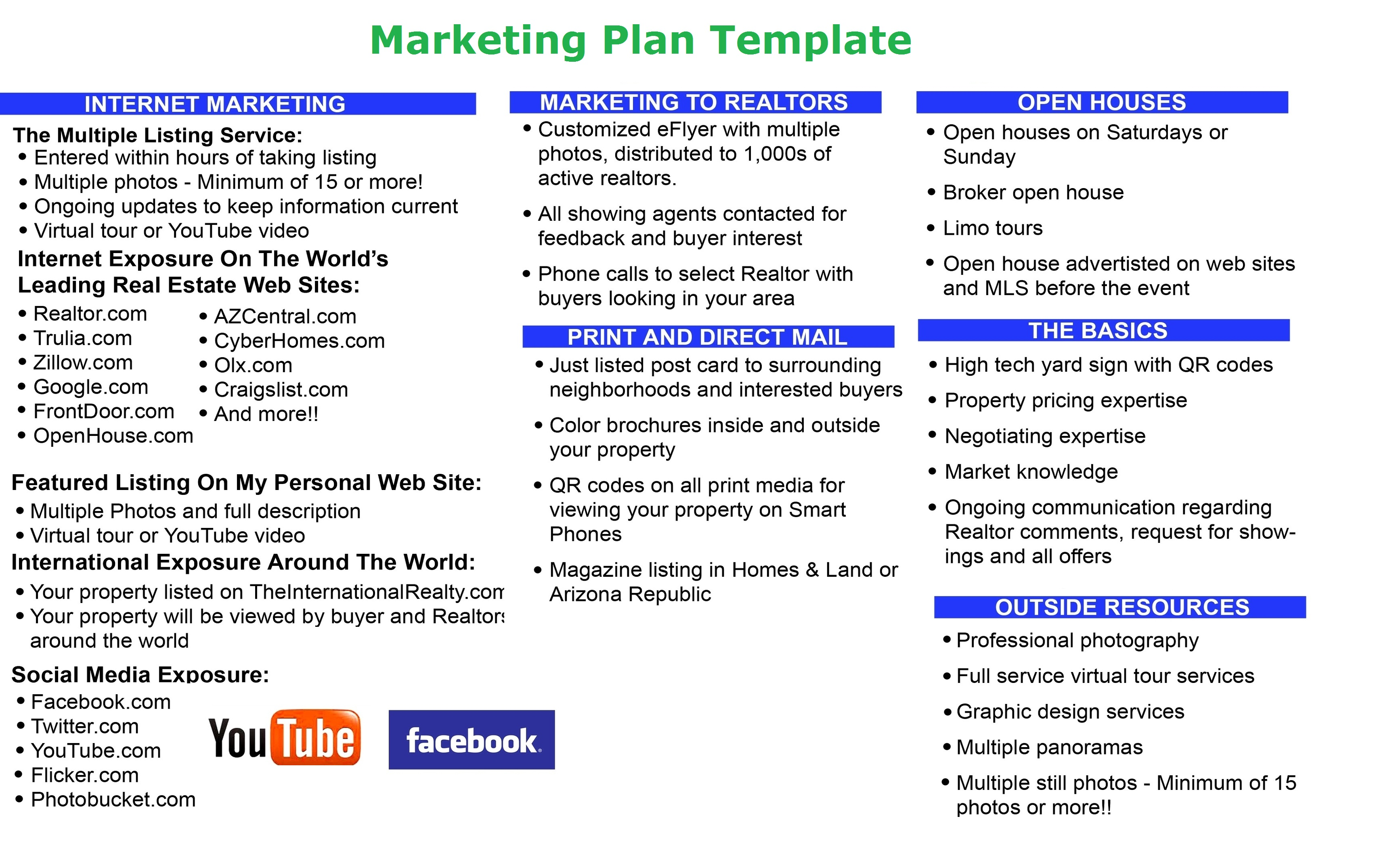 Publicity Plan Template Marketing Plan Tasko Consulting